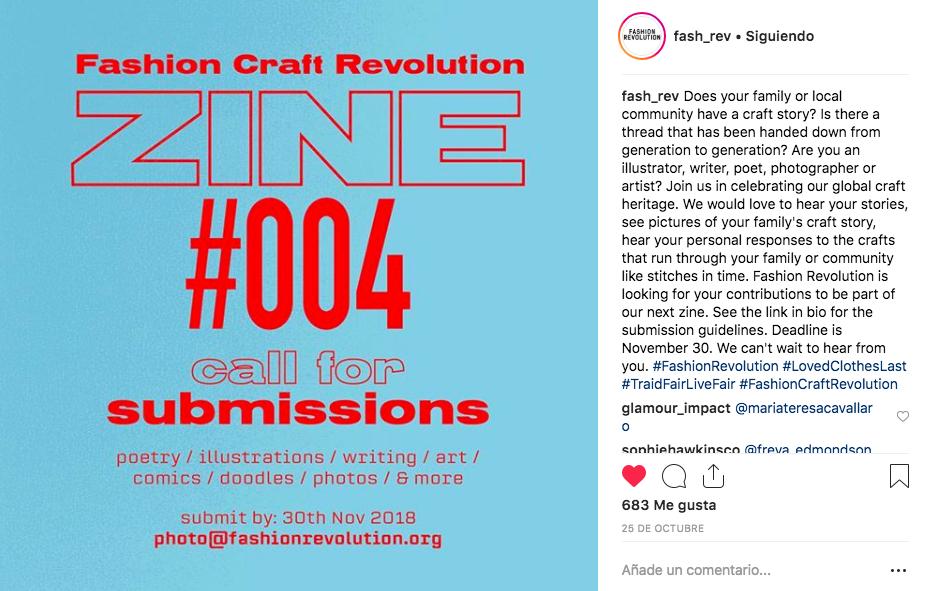 FR Call: Fashion CraftRevolution