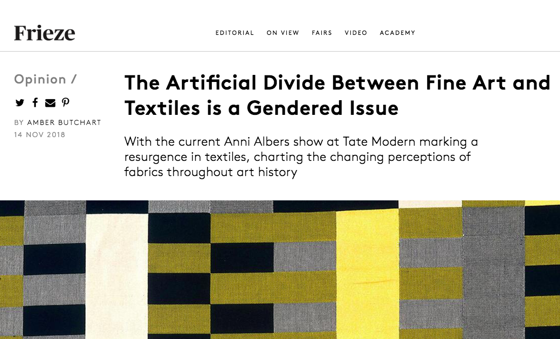 Textiles in Art History, a genderedissue